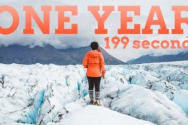 ONE YEAR in 199 SECONDS | 2017 Travel...