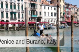 Visiting Venice and Burano Italy